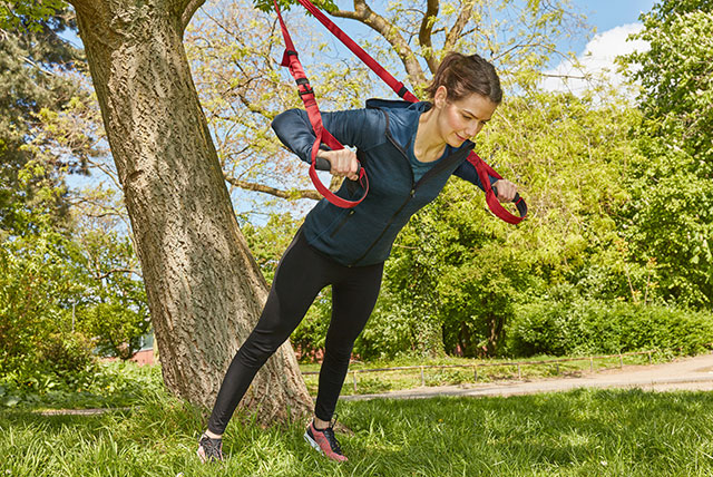 TRX training in the park
